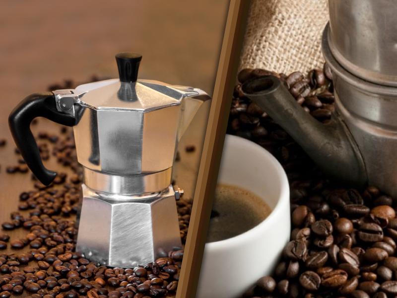 Caffettiera Moka e Caffettiera Napoletana